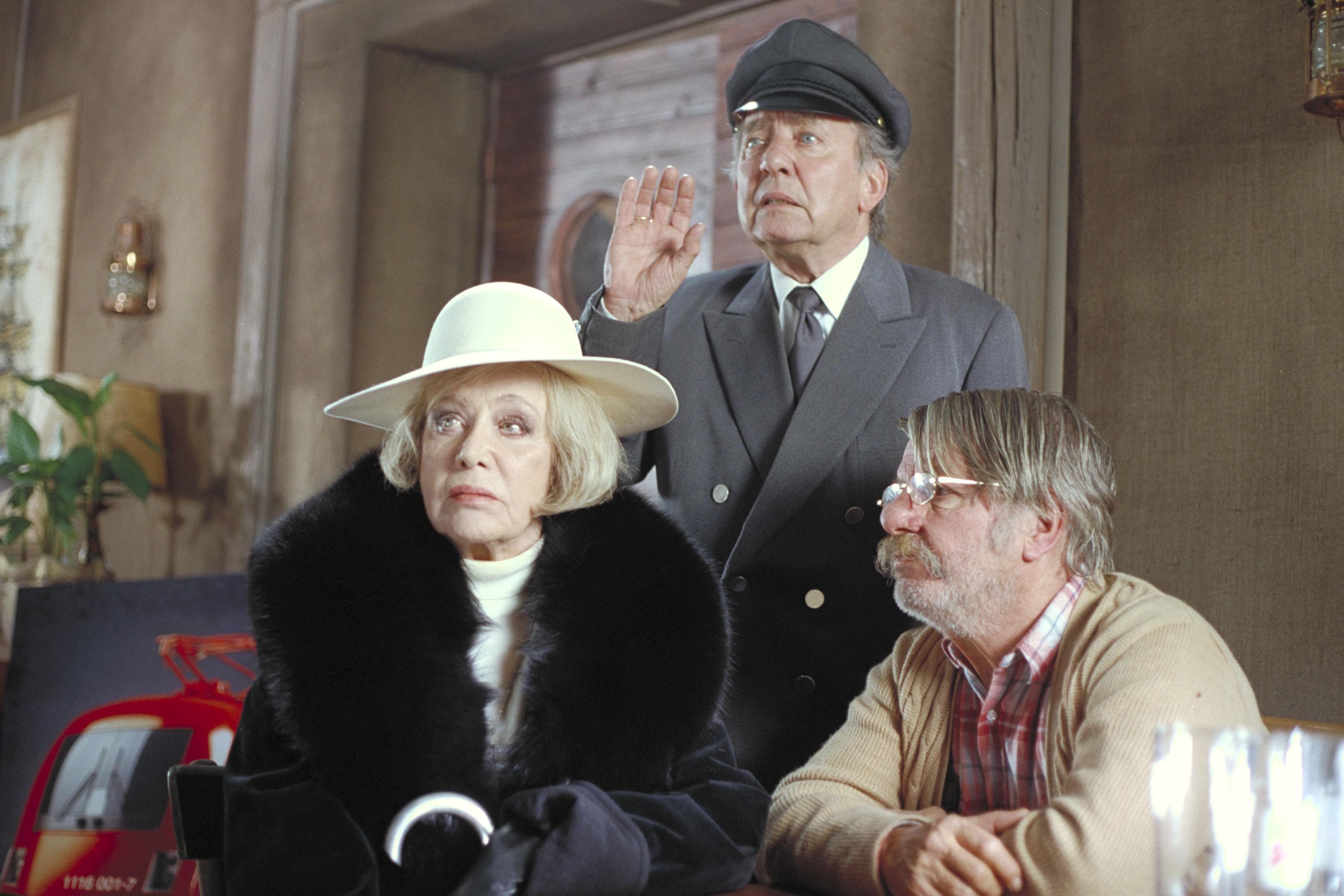 Hildegard Knef (Tante Marlene), Hans Clarin, Heinz Petters (Sigis Opa)