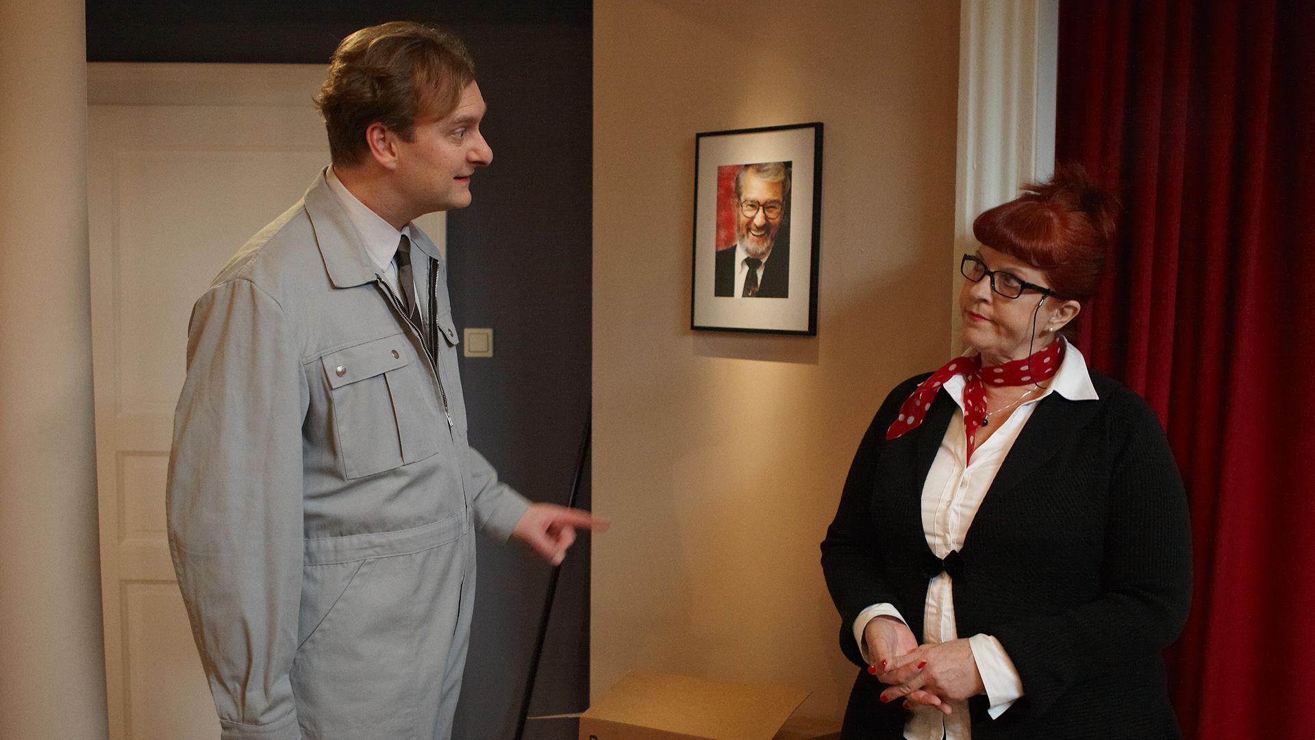 Alexander Jagsch (Dr. Sigmund Leidowitz), Elfi Eschke (Lilli Buxenschutz)