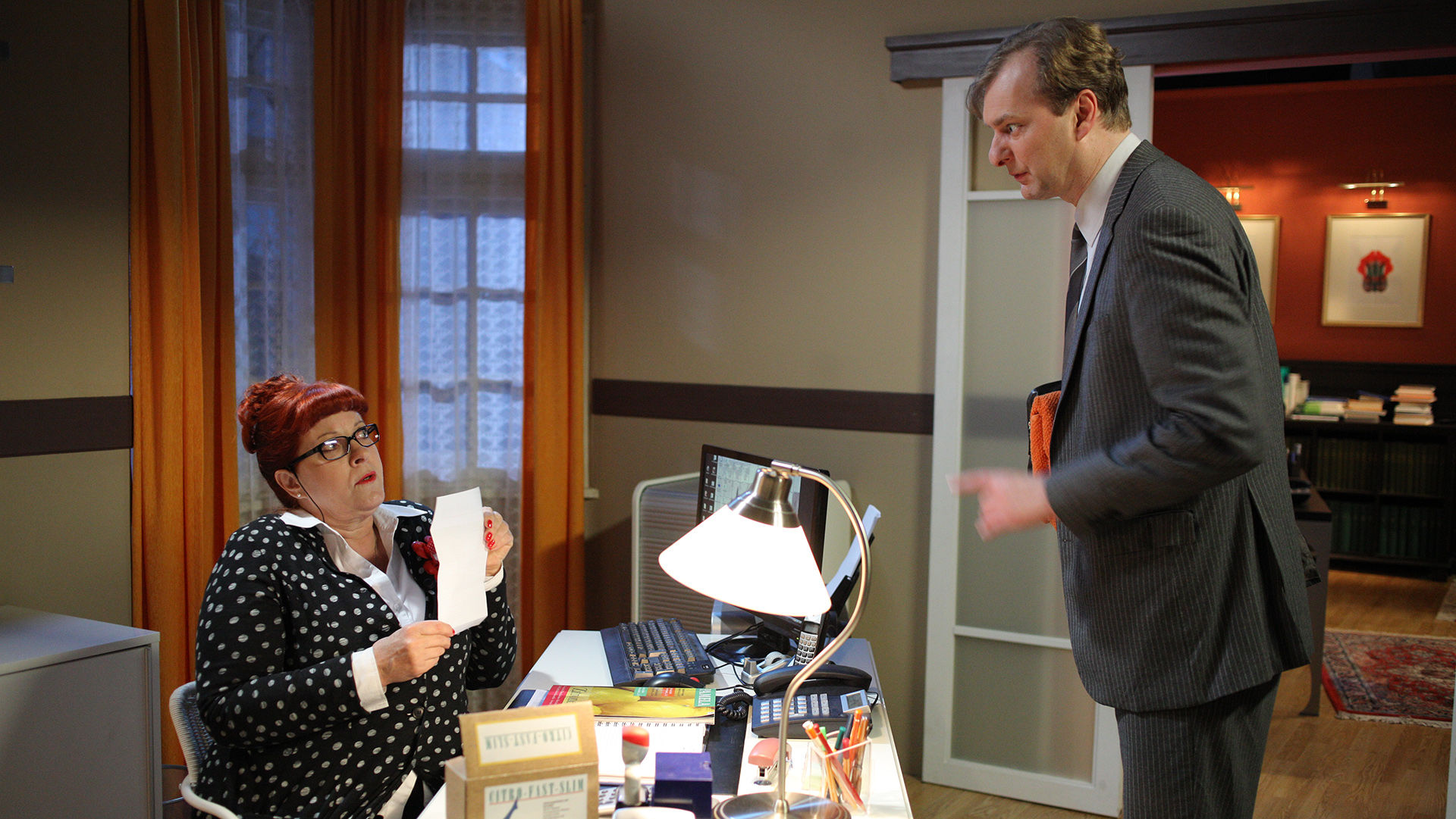 Elfi Eschke (Lilli Buxenschutz), Alexander Jagsch (Dr. Sigmund Leidowitz)