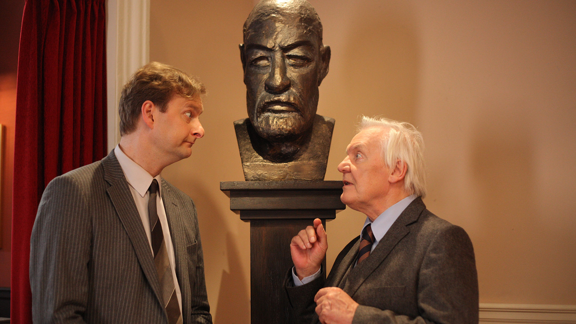 Alexander Jagsch (Dr. Sigmund Leidowitz), Wolfgang Hübsch (Psychotherapeut Dr. Gustav Alt)