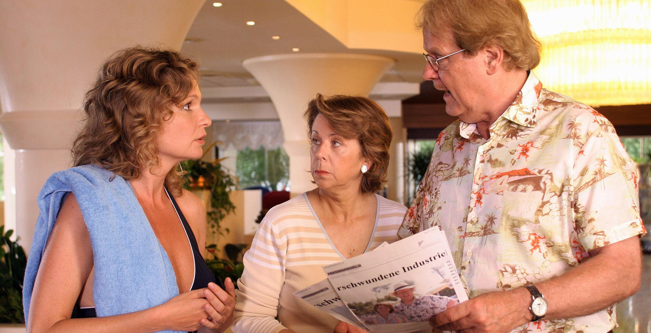 Mirjam Ploteny (Brigitte Braunstein), Uschi Wolff (Roswitha Gold), Peter Fricke (Albert Summer)