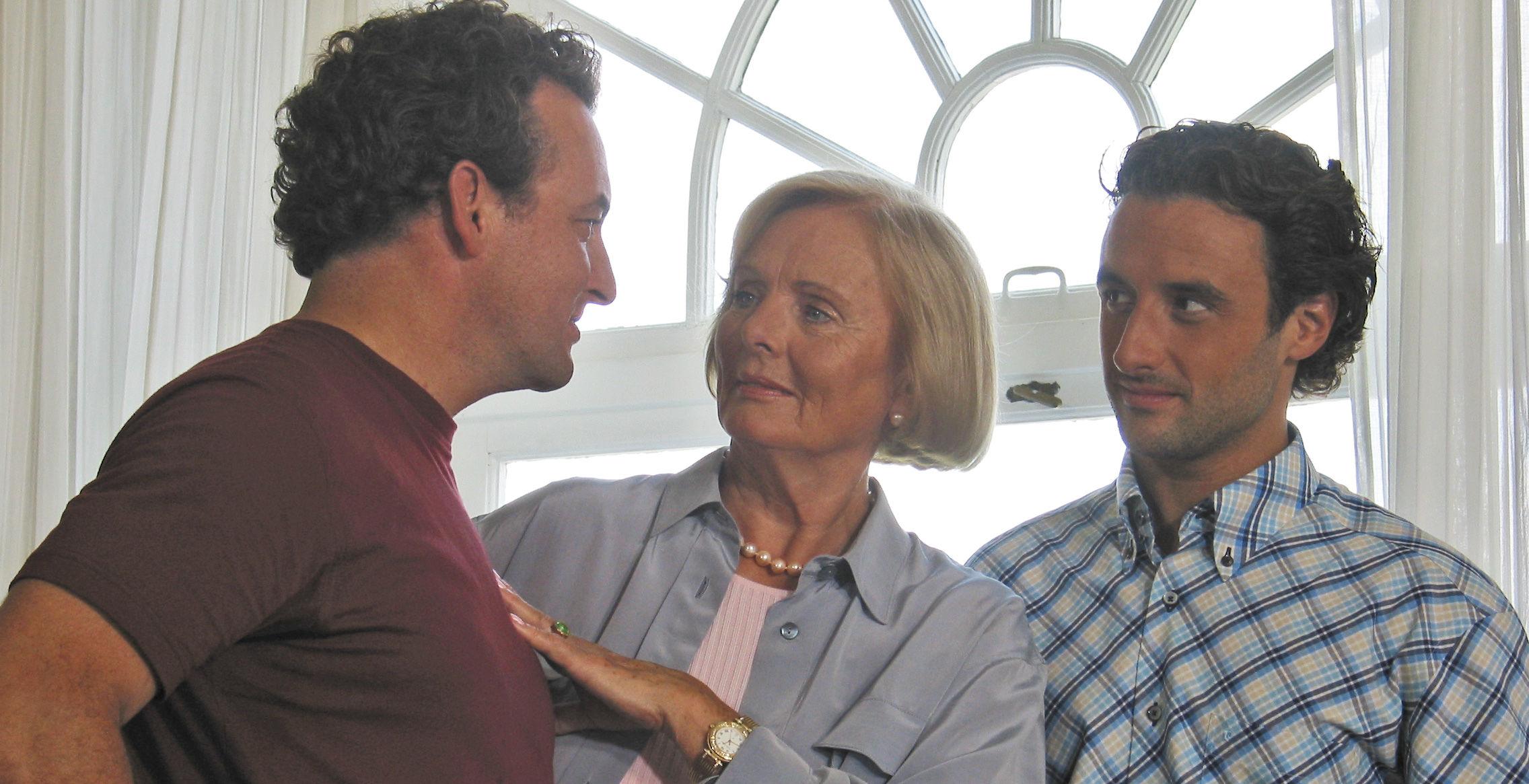 Freddy (Marco Rima), Jaqueline (Ruth Maria Kubitschek), Georg (Gunther Gillian)