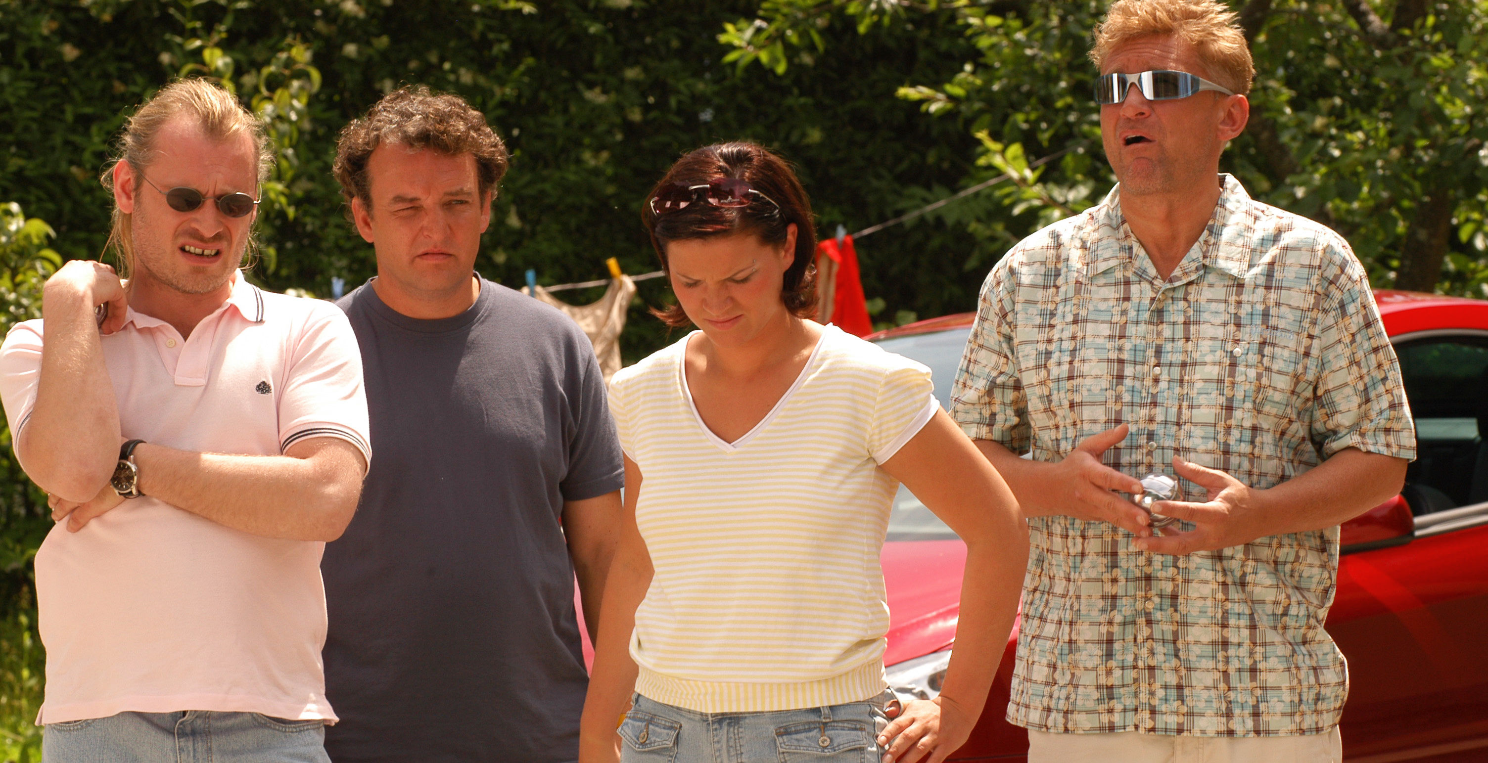 Rene (Johannes Krisch), Freddy (Marco Rima), Shark (Magdalena Rentenberger), Larry (Rainhard Fendrich)