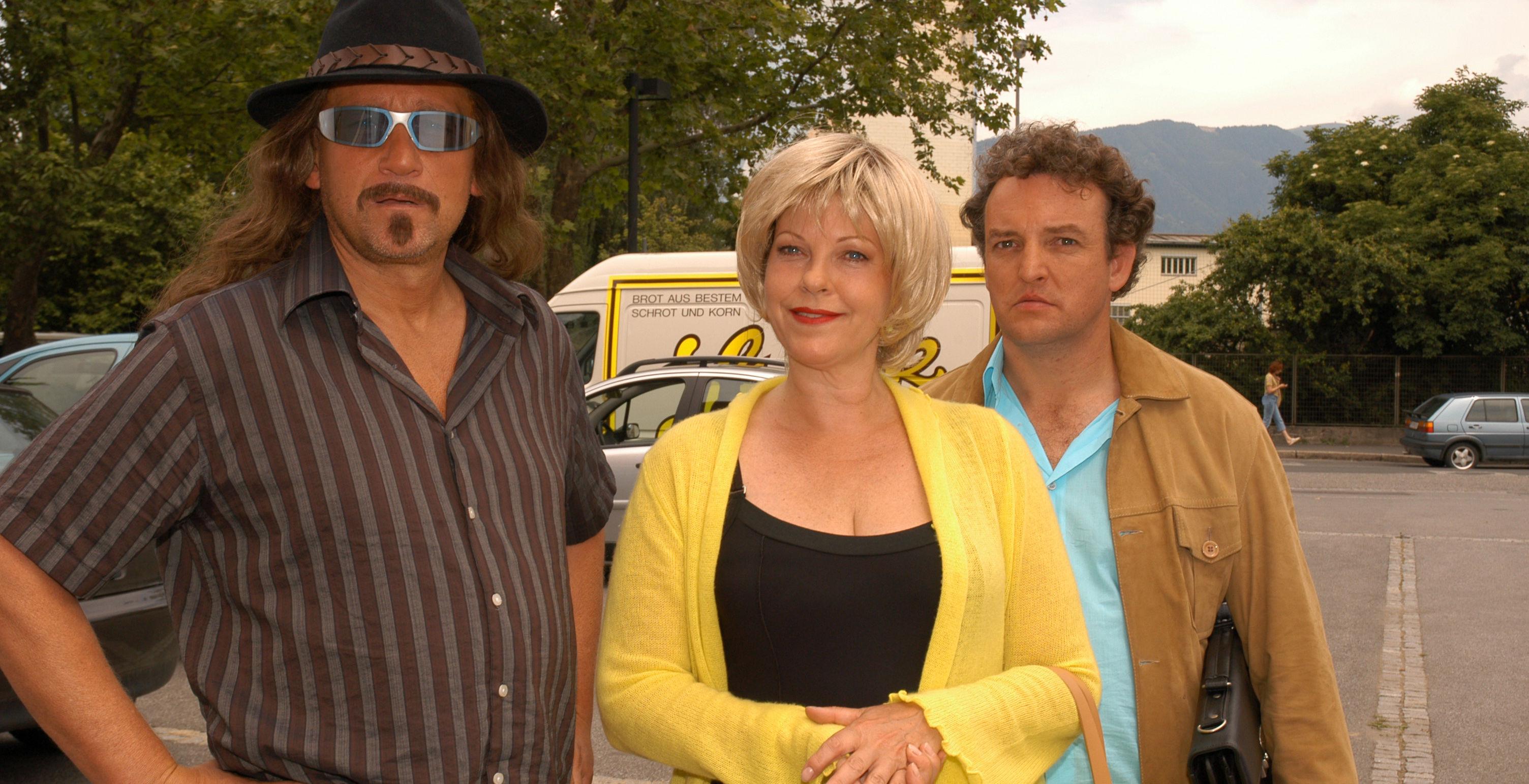 Larry (Rainhard Fendrich), Conny (Elfi Eschke), Freddy (Marco Rima)