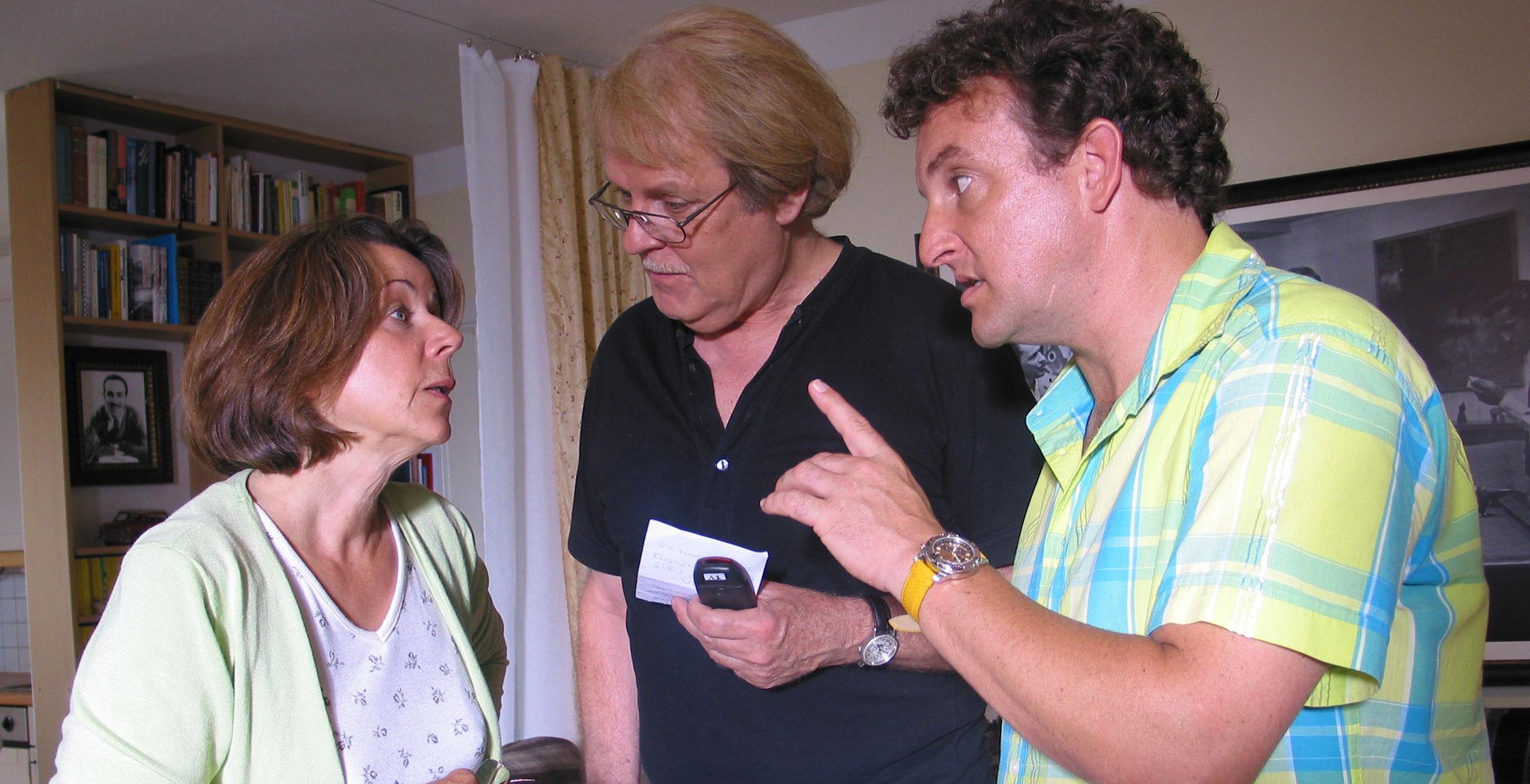 Frau Gold (Uschi Wolff), Albert (Peter Fricke), Freddy (Marco Rima)