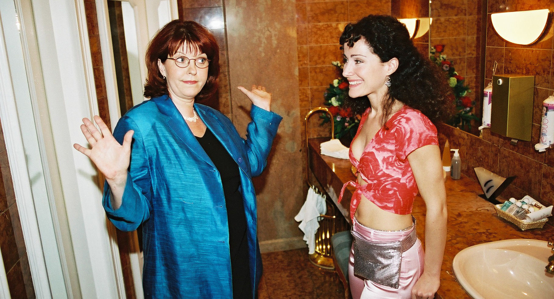 Elfi Eschke (Kathi Blümlein), Sandra Pires (Lisa Thompson)