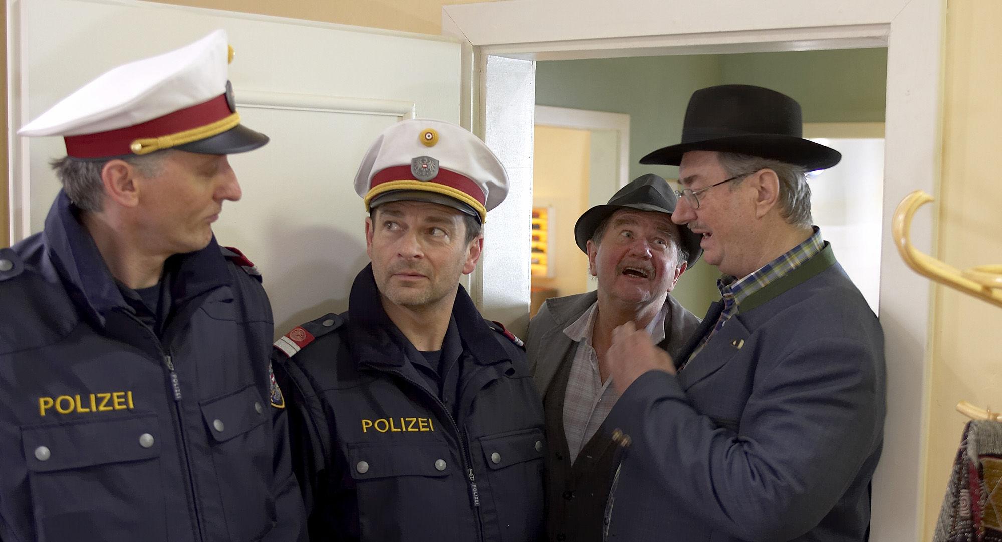 Manfred Dungl (Traugott Pimpf), Andreas Steppan (August Horrowitz), Ernst Konarek(Otto Schratt), Gerhard Zemann  (Chefinspektor Zirmgiebel)