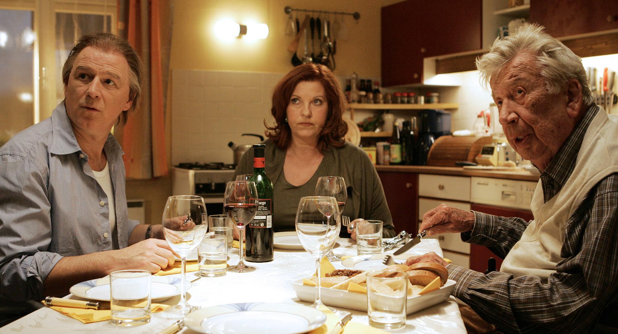 Alexander Goebel (Boris Weininger), Elfi Eschke (Sarah Horrowitz),  Heinz Reincke (Willi Horrowitz)