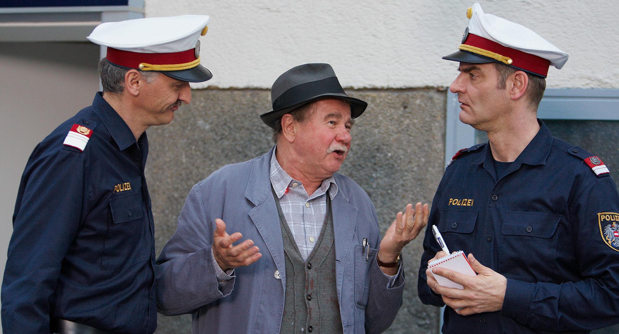 Manfred Dungl (Traugott Pimpf), Ernst Konarek(Otto Schratt), Heinrich Schafmeister (Udo Maulhart)
