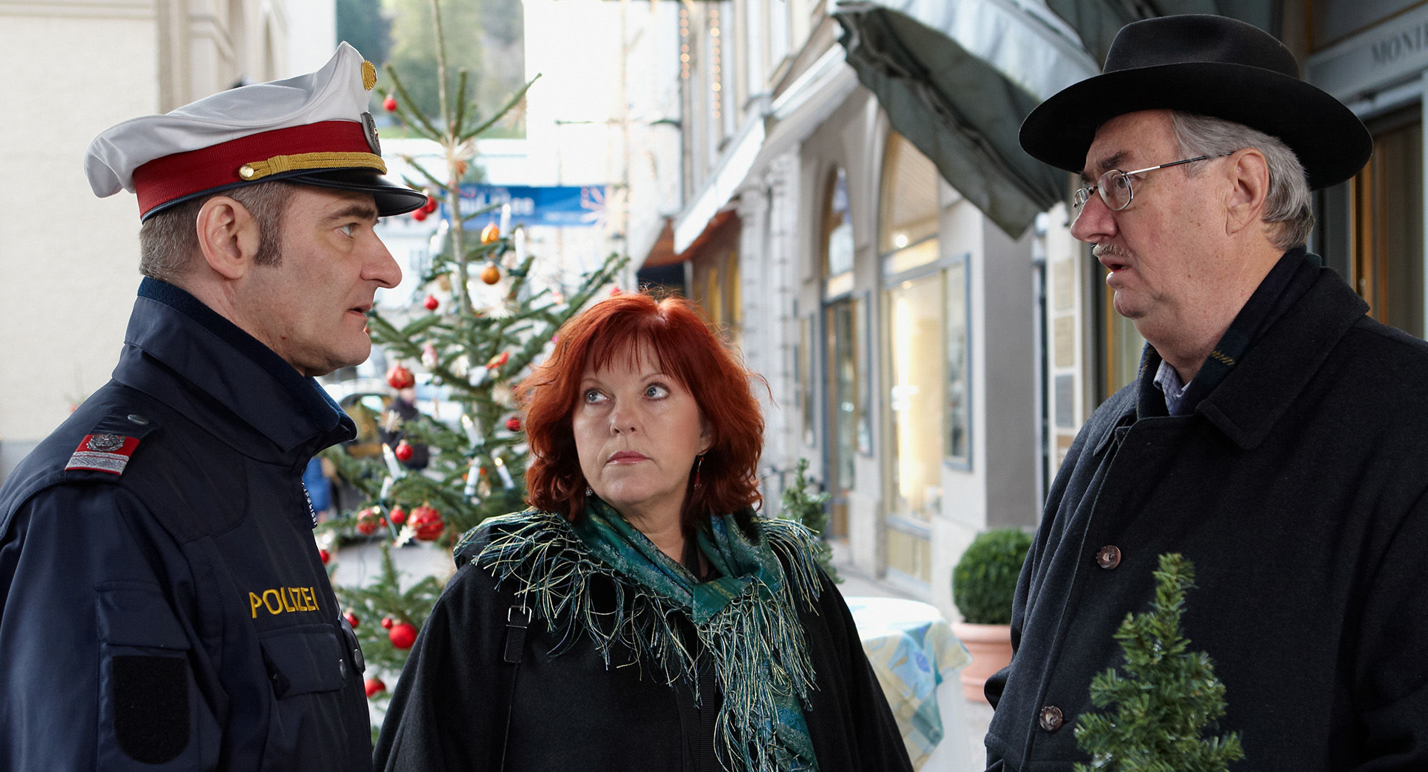 Andreas Steppan (August Horrowitz), Elfi Eschke (Sarah Horrowitz), Gerhard Zemann (Chefinspektor Zirmgiebel)