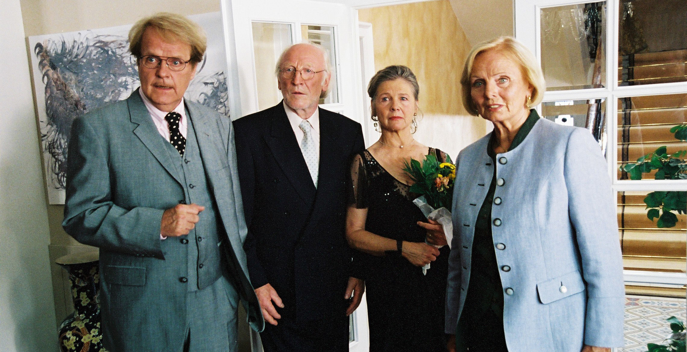 Albert (Peter Fricke), Paul (Karl Merkatz), Sandra (Helma Gautier), Jacqueline (Ruth Maria Kubitschek)